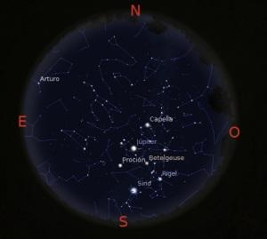 Simulació del cel del 20 de febrer a les 22.00h