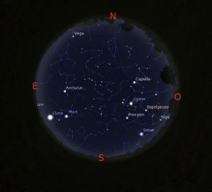 Simulació del cel del 15 d'abril a les 22.00h