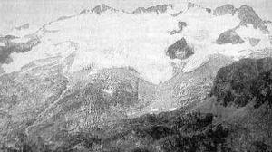 Panoràmica de la glacera de la Maladeta, 1857 (Autor: A. Civiale)