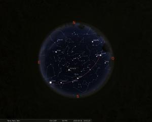 Simulació del cel del 15 de maig a les 23:00 hores
