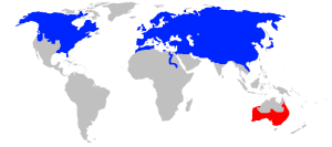 Mapa de distribució de la guineu comuna