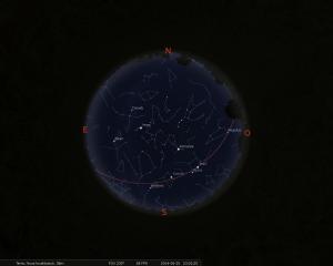 Simulació del cel del 15 de juny a les 23:00h