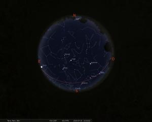 Simulació del cel de 15 de juliol a les 21.30 hores