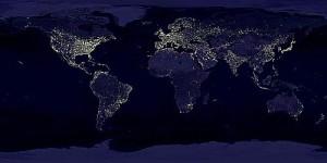 Imatge: satèl.lit de les fonts de llum al món. (Font: xtec.cat)