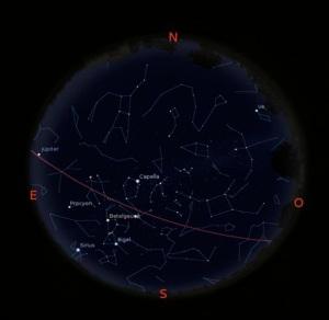 Simulació del Cel del 15 de Desembre a les 21:30