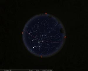 Simulació del cel del 15 de gener a les 21.30 hores
