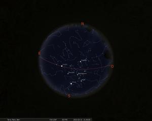 Simulació del cel del 15 de febrer a les 21:30