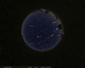 Simulació del cel del 15 de maig a les 22:30h
