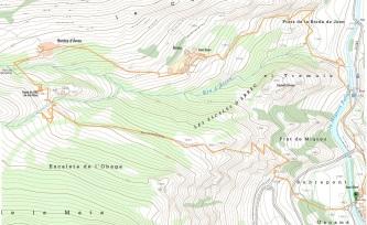 Mapa del recorregut per Àrreu