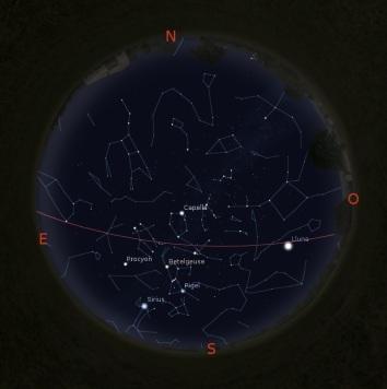Simulació del Cel del 15 de gener a les 21:30