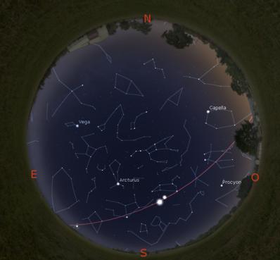 Simulació del Cel del 15 de maig a les 22:30