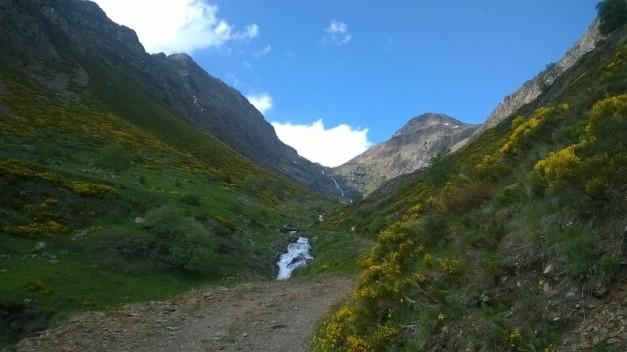 Foto 2. Camí que puja per la dreta de la Vall del Nyiri. Font pròpia.