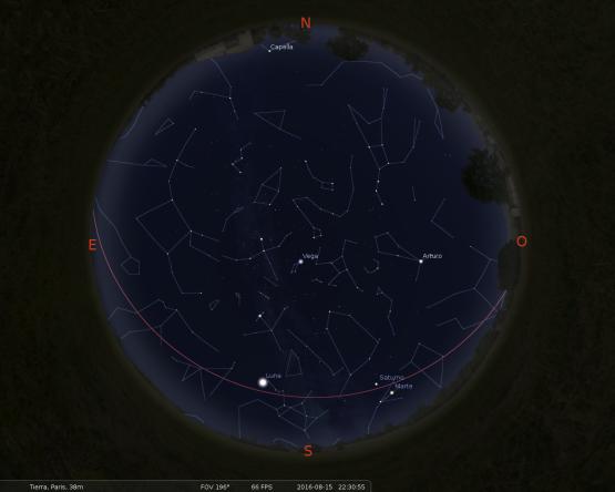 Simulació del cel del 15 d'agost a les 22:30