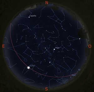 Simulació del cel del 15 de setembre a les 22:30