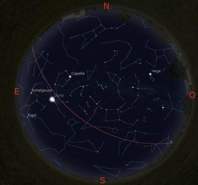 Simulació del cel del 15 de novembre a les 21:30h.