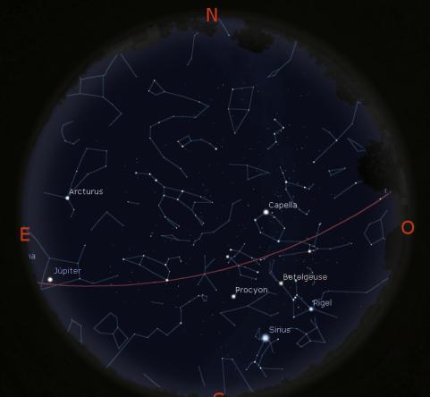 Simulació del cel del 15 de Març les 21:30h.